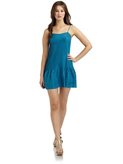 Twenty8Twelve - Chloe Camisole Silk Dress/Blue