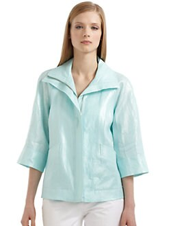 Lafayette 148 New York - Mckinley Linen Flap Collar Jacket