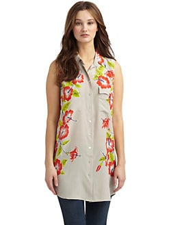 Equipment - Floral Silk Tunic/Coastline