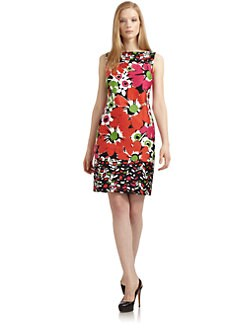 David Meister - Floral Print Shift Dress