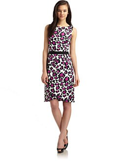 David Meister - Animal Print Sheath Dress