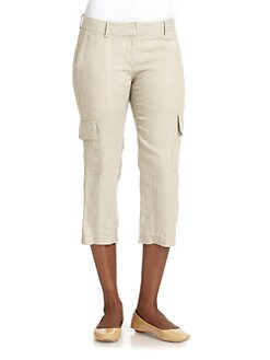 Eileen Fisher - Cropped Cargo Pants/Khaki