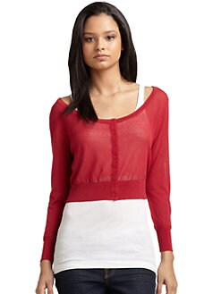 Qi New York - Marion Cardigan/Red Apple