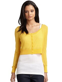 Qi New York - Marion Cardigan/Lemon Drop