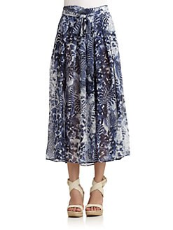 Qi New York - Simone Print Maxi Skirt