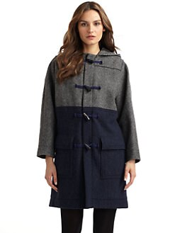 Cacharel - Colorblock Toggle Coat