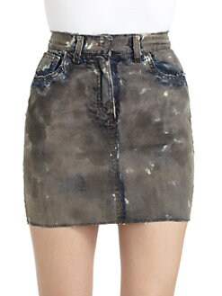 Dolce & Gabbana - Distressed Denim Skirt