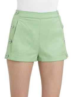 D&G - Stretch Cotton Side-Button Shorts
