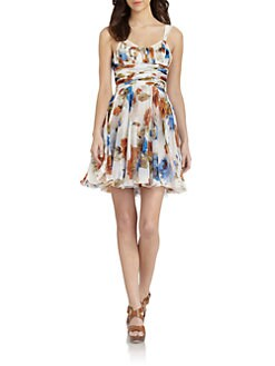 D&G - Silk Floral-Print Dress