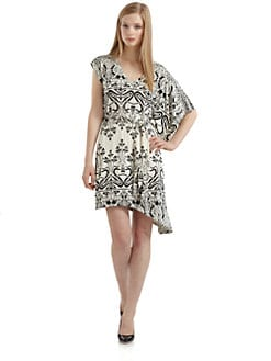 ABS - Asymmetrical Flutter Sleeve Dress