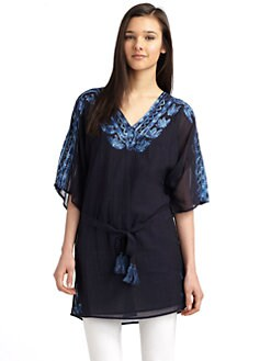 Love Sam - Embroidered Belted Tunic