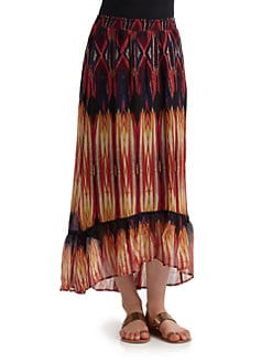 Love Sam - Ethnic Print Maxi Skirt