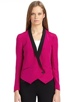 Rebecca Minkoff - Becky Silk Contrast Tuxedo Jacket