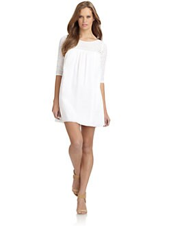 Rebecca Minkoff - Cat Cotton Eyelet Detail Dress