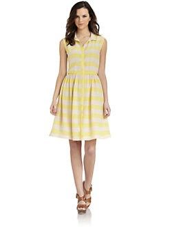Pippa - Silk Striped Shirt Dress