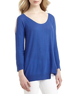 Qi New York - Belova Cashmere Cutout Sweater