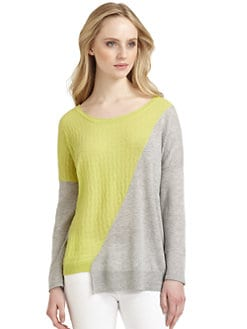 Qi New York - Natasha Cashmere Colorblock Sweater
