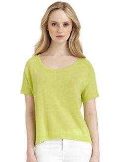 Qi New York - Natalia Cashmere Oversized Tee
