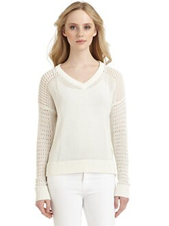 Qi New York - Rita Sheer Knit Sweater