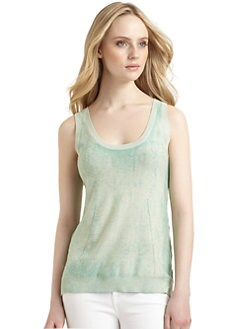 Qi New York - Sasha Cashmere Tank Top