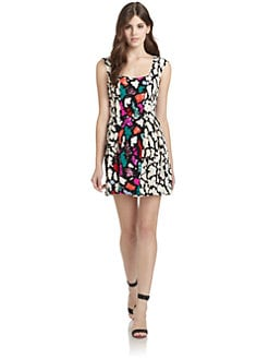 Nanette Lepore - Double Happiness Silk Printed Dress