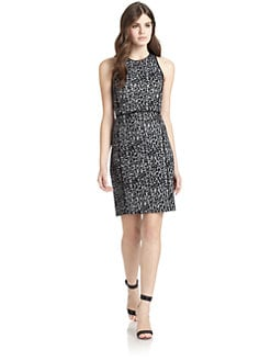 Rebecca Taylor - Leopard Knit Sheath Dress