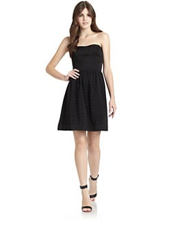 Rebecca Taylor - Laser-Cut Strapless Dress