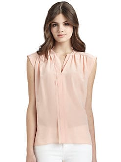 Rebecca Taylor - Silk Placket Detail Blouse
