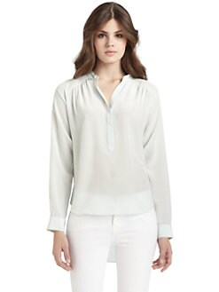 Rebecca Taylor - Silk Hi-Lo Henley