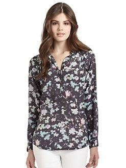 Rebecca Taylor - Silk Floral Blouse