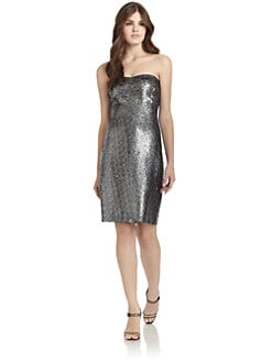 Rebecca Taylor - Sequined Strapless Cocktail Dress