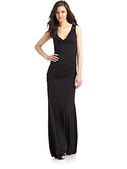 Catherine Malandrino - Cowlneck Gown/Black