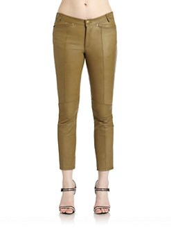 10 Crosby Derek Lam - Seamed Leather Cropped Pants
