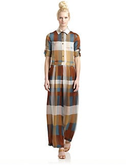 10 Crosby Derek Lam - Silk Satin Plaid Wide Leg Jumpsuit