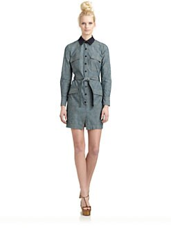 10 Crosby Derek Lam - Cotton Denim Shirt Dress