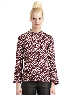 10 Crosby Derek Lam - Silk Satin Printed Blouse