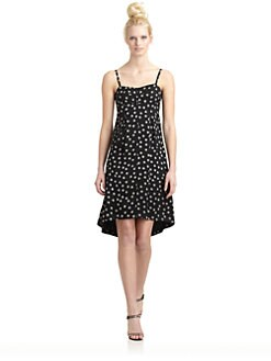 10 Crosby Derek Lam - Silk Embroidered Polka Dot Hi-Lo Dress