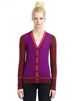 10 Crosby Derek Lam - Merino Wool Colorblock Cardigan