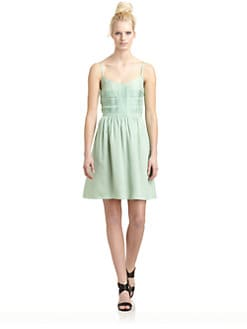 10 Crosby Derek Lam - Silk Pintucked Dress