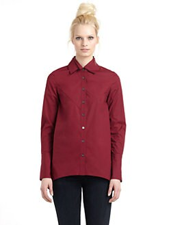 10 Crosby Derek Lam - Hi-Lo Button Front Shirt