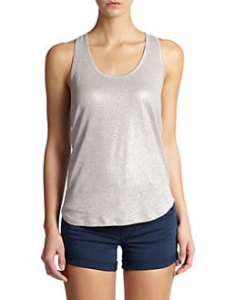 7 For All Mankind - Shimmer Linen Tank Top
