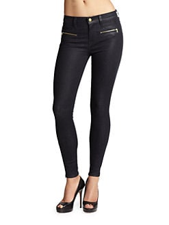 7 For All Mankind - Savannah Zip-Accented Skinny Jeans