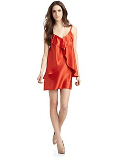 Cynthia Rowley - Silk Satin Petal Dress/Poppy