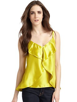 Cynthia Rowley - Silk Satin Petal Tank/Canary