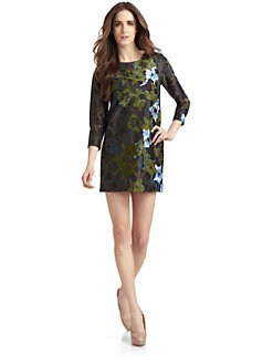 Cynthia Rowley - Pre-Historic Floral Cotton Sateen Dress