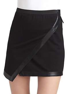 Under.Ligne by Doo.Ri - Faux Wrap-Front Mini Skirt