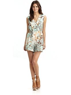Hunter Dixon - Mary Ann Silk Floral Short Jumpsuit