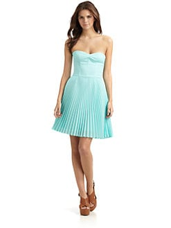 Hunter Dixon - Micki Pleated Strapless Dress