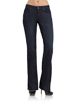 Rich and Skinny - Medium Rise Dark Wash Wedge Bootcut Jeans