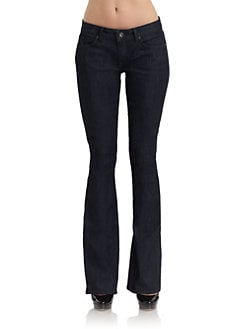 Rich and Skinny - Dark Wash Wedge Bootcut Jeans